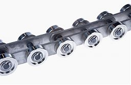 Heat-resistant bush conveyor chain made of material 1.4828